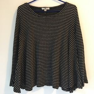 Black and white striped Ya Los Angeles sweater, M
